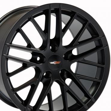 "18"" Fits Chevrolet - C6 ZR1 Wheel Replica - Satin Black 18x8.5"