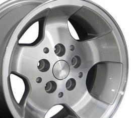 Silver Machined Face Wheel fits Jeep Wrangler 15x8