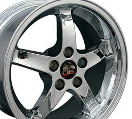 "17"" Fits Ford - Mustang Cobra R Wheel - Chrome 17x9"