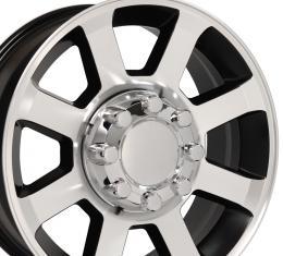 "20"" Fits Ford - F250-F350 Wheel Replica - Satin Black Machined Face 20x8"