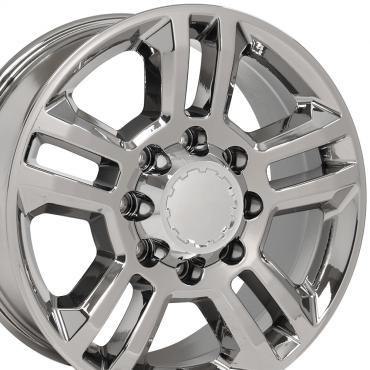 PVD Chrome Truck Rims fit Chevrolet Silverado 2500/3500 - 20x8.5