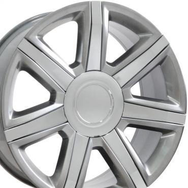 "22"" Fits Cadillac - Escalade Wheel - Hyper Silver with Chrome Insert 22x9"
