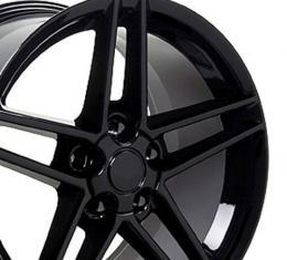 Black Rims fit Chevrolet Corvette (C6 Z06 style) 18x10.5