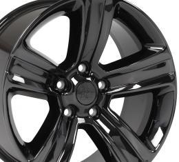 "20"" Fits Dodge - Ram 1500 Wheel - PVD Black Chrome 20x9"