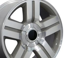 """22"""" Fits Chevrolet - Texas Wheel - Mach'd Silver 22x9"""