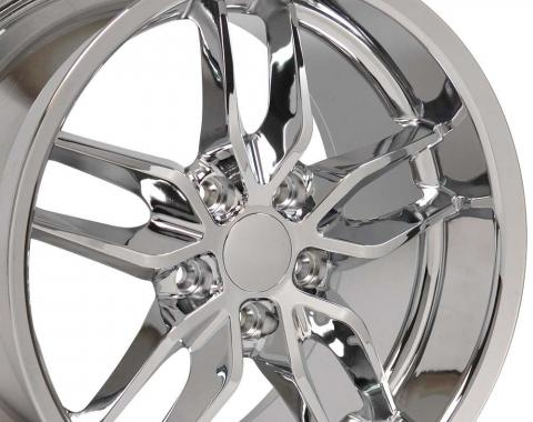 Chrome Deep Dish Wheel fits Camaro-Firebird (Stingray style) 17x9.5