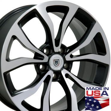 "18"" Fits Cadillac - ATS Wheel - Matte Black Mach'd Face 18x8"