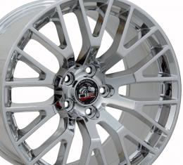 """19"""" Fits Ford - 2015 Mustang GT Wheel - PVD Chrome 19x10"""