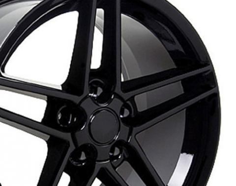 Black Rims fit Chevrolet Corvette (C6 Z06 style) 17x9.5