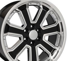Chrome Insert Black Machined Face Deep Dish Wheel fits Chevrolet Silverado 22x9.5
