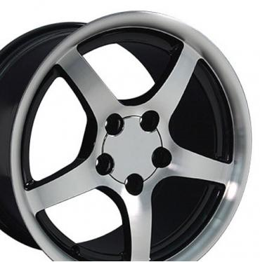 "18"" Fits Chevrolet - Corvette C5 Wheel - Black 18x9.5"