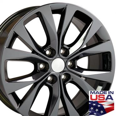 "20"" Fits Ford - F-150 Wheel - PVD Black Chrome 20x8.5"