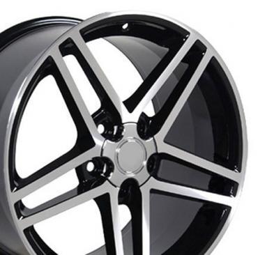 Black Machined Rims fit Corvette (C6 Z06 style) 18x10.5