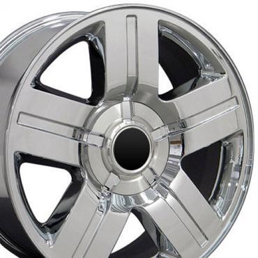 "22"" Fits Chevrolet - Texas Wheel - Chrome 22x9"