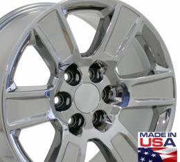 """20"""" Fits GMC - Sierra Wheel - PVD Chrome 20x9"""