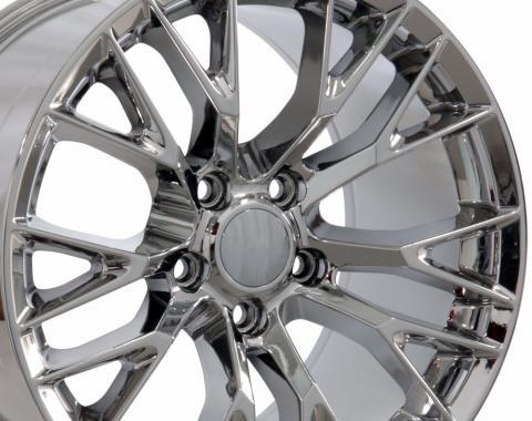 "17"" fits Chevrolet Corvette C7 Z06 Wheel Replica - Chrome 17x8.5"