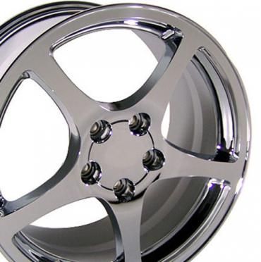 "18"" Fits Chevrolet - Corvette C5 Wheel - Chrome 18x9.5"