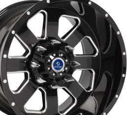 4Play Black Machined Face Custom Wheel fits GM 6-Lug 20x12