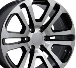 "20"" Fits GMC - Sierra Wheel - Black Mach'd Face 20x9"