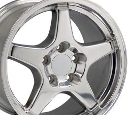 "17"" Fits Chevrolet - Corvette ZR1 Wheel - Polished 17x9.5"