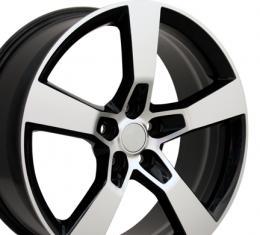 "20"" Fits Chevrolet - Camaro SS Wheel - Mach'd Black 20x9"