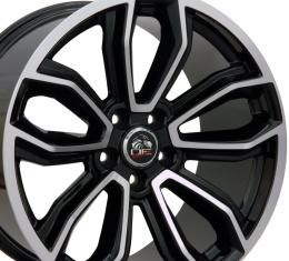 """19"""" Fits Ford - Mustang Wheel - Black Mach'd Face 19x9"""