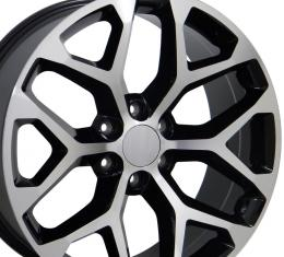 "22"" Fits GMC - Sierra Wheel - Black Mach'd Face 22x9"