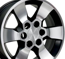 """17"""" Fits Toyota - 4Runner Wheel - Matte Black Mach'd Face 17x7"""