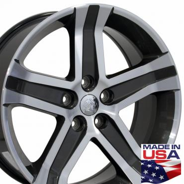 "22"" Fits Dodge - 1500 Wheel - Gunmetal Mach'd Face 22x9"