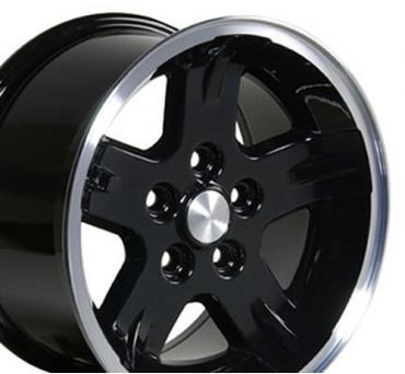 Black Machined Lip Wheel fits Jeep Wrangler 15x8