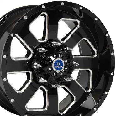 4Play Black Machined Face Custom Wheel fits GM 8-Lug 20x10