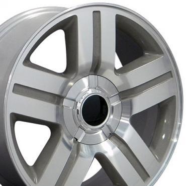 "20"" Fits Chevrolet - Texas Wheel - Silver 20x8.5"