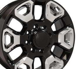 Black Replica Wheel with Chrome Inserts fits Ram 2500-3500 - 20x8