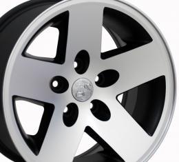 "16"" Fits Jeep - Wrangler Wheel - Matte Black Mach'd Face 16x8"