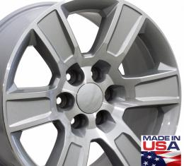 "20"" Fits Chevrolet - Sierra Wheel - Silver Machined Face 20x9"