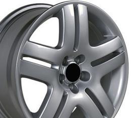 """17"""" Fits VW Volkswagen - Jetta Wheel - Silver 17x7"""