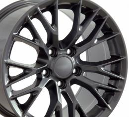 "19"" Fits Chevrolet - C7 Z06 Wheel - Gunmetal 19x10"