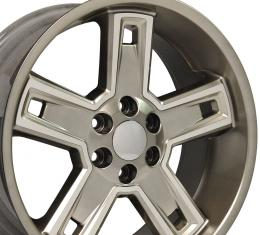 "22"" Fits Chevrolet - Silverado Deep Dish Wheel  - Hyper Black Machined Face 22x9.5"