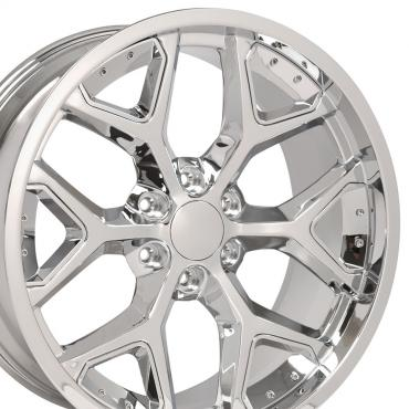 Chrome Insert Chrome Deep Dish Rims fit Chevy Silverado 22x9.5