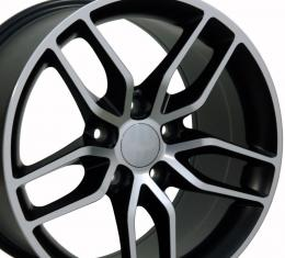 Matte Black Machined Face Wheel fits Corvette (Stingray style) 18x10.5