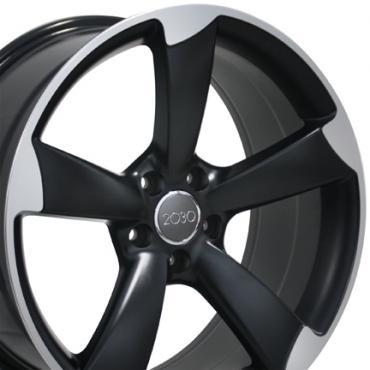 """19"""" Fits Audi - S4 Wheel - Matte Black Mach'd Face 19x8.5"""