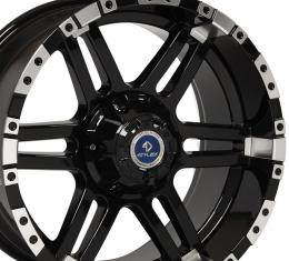 4Play Black Machined Face Custom Wheel fits GM 6-Lug 20x9