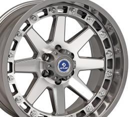 4Play Gunmetal Machined Face Custom Wheel fits Ford 6-Lug 20x10