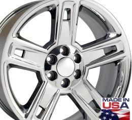 "22"" Fits Chevrolet - Silverado Wheel - PVD Chrome 22x9"