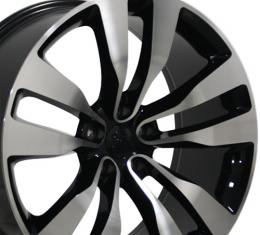 "20"" Fits Dodge - Charger Wheel - Black Mach'd Face 20x9"