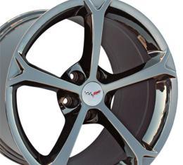 """18"""" Fits Chevrolet - Corvette C6 Grand Sport OEM Wheel - Black Chrome 18x9.5"""