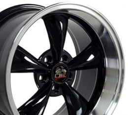 Machined Lip Black Replica Wheels fit Ford Mustang (Bullitt style) 17x10.5