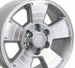"""17"""" Fits Toyota - 4Runner Wheel - Silver Mach'd Face 17x7.5"""