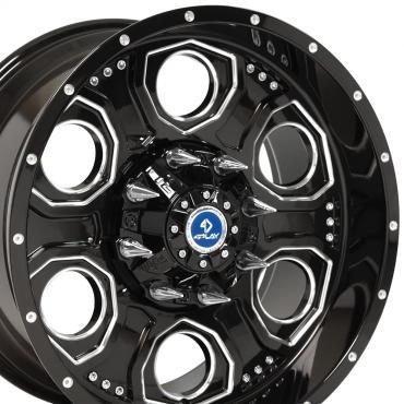 4Play Black Machined Face Custom Wheel fits Ford 6-Lug 20x10