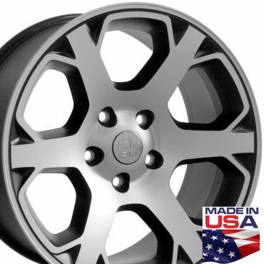 "20"" Fits Dodge - 1500 Wheel - Matte Black Mach'd Face 20x9"